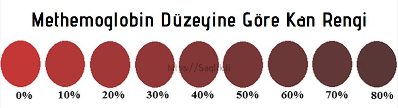 Methemoglobin düzeyine göre kan rengi